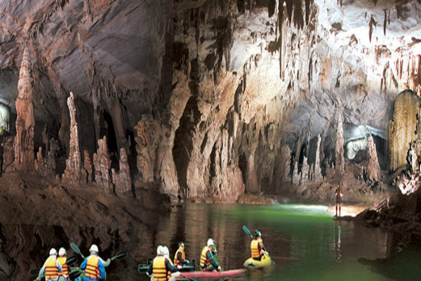 Kayaking in the cave