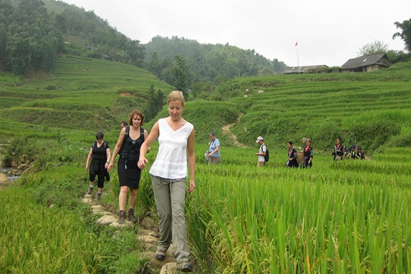 Trekking to the villages