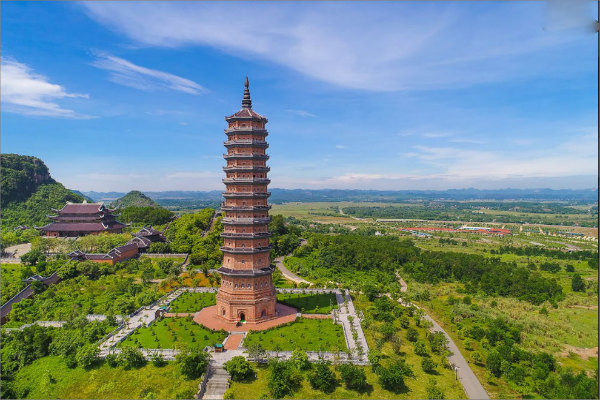 Bai Dinh pagoda is the largest pagoda in Southeast Asia